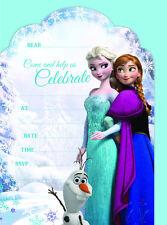 Disney Frozen Invite Party Invitation 7pk with Envelopes Anna Elsa Birthday Girl