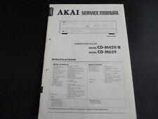 ORIGINALI service manual AKAI cd-m459/r cd-m659