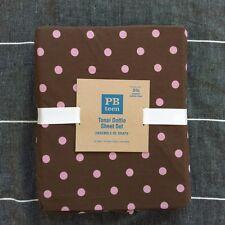 Pottery Barn Teen Tonal Dottie twin XL sheet set pink brown
