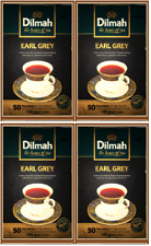 Dilmah Earl Grey Ceylon Tea - 50 Tea Bagged X 4 Boxes (400g) Free shipping