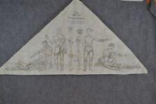 antique printed cotton illustrated bandage Esmarch Johnson medicine 1903 rare