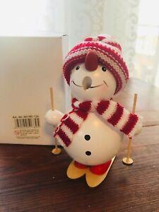 New in box - Snowman smoker Christmas, incense cone burner, Germany winter ski