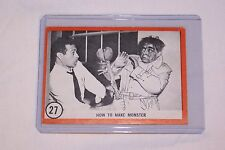 """Famous Monster Series Card #27 """"How to make a Monster"""" 1963. In Plastic Sleeve."""