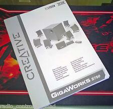 RARE Genuine Creative GigaWorks S750 Owners Instruction Manual (Multi Language)