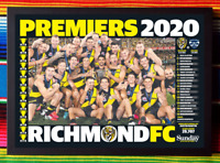 ✺Framed✺ 2020 RICHMOND TIGERS AFL Premiers Poster - 45cm x 32cm x 3cm