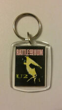 U2 Rattle and Hum Bono USED PLASTIC Vintage keychain key ring music band group