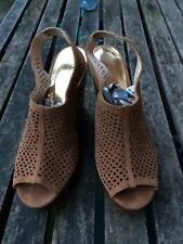 Coach Designer Wedge Real Leather/Suede Sandals Uk 7.5