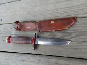 vintage 1960's Schrade-Walden NY USA Sears BOWIE HUNTER KNIFE w/Sheath