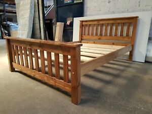 bespoke crown bed in oak finish  comes with extra strong bed slats