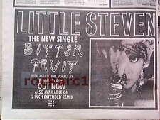LITTLE STEVEN Bitter Fruit 1987 UK Press ADVERT 12x8 inches -  Springsteen