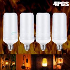 4X E27 LED Flicker Flame Light Bulbs Burning Fire Effect Festival Party Decor
