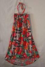 NEW Girls Halter Dress Size 7 - 8 Hi-Low Floral Smocked Top Stretch Summer