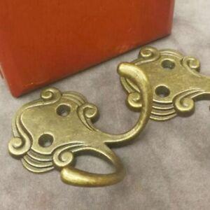 5PCS Alloy Brass Antique Hooks Wall Door Hanger Hook Hat Coat Bag Robe