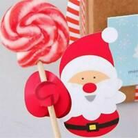 50X Christmas Xmas Santa Claus Penguin DIY Lollipop Stick Paper Party Decoration