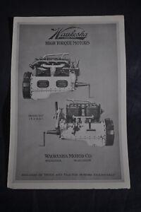 Ca 1920 Waukesha High Torque Motors Model E. U. Brochure