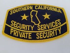SOUTHERN CALIFORNIA SECURITY SERVICES Patch, New