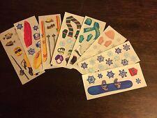 Creative Memories Studio Strip Winter, skiing, snow flakes, ice fishing stickers