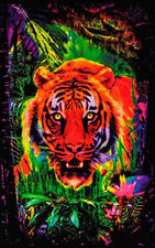 JUNGLE TIGER - BLACKLIGHT POSTER - 24X36 FLOCKED NATURE WILDLIFE CAT 1973