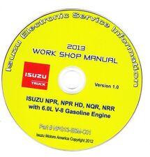 2013 Isuzu NPR NPR HD NRR Truck w/ 6.0L Gas Engine Repair Manual ITS-CD26