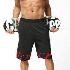 Men's Sports Shorts Work Casual Sportswear Breathable Elastic Pants with Pockets