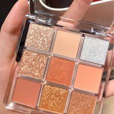 9 Colors Eyeshadow Palette Matte Eyeliner Glitter Metallic Eye Shadow Powder