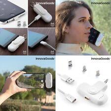 Power bank magnetico universal cargador portatil móvil,LED,android,iOS,bateria