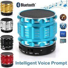 Portable Mini Bluetooth Speakers Metal Steel Smart Hands-Free Speaker With FM Ra