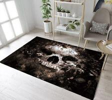 Horror Halloween Skull Pattern Area Rugs Bedroom Carpet Living Room Floor Mat