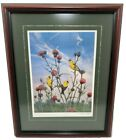 Finch Thistle Framed Picture Artist Signed Roberta Barg Limited Edition 97/400