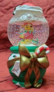 Disney Winnie The Pooh Piglet Miniature Christmas Snow Globe Winter Holiday RARE