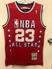 Nwt #23 Michael Jordan 1989 Men's All-Star Red Throwback Stitched Jersey