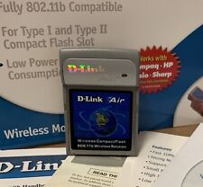 D-Link Air Wireless WiFI Compact Flash CF 802.11b card DCF-660W new 2002 papers