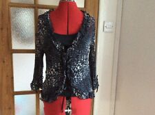 Soon at Matalan black mix blouse & camisole set size 10 BNWT