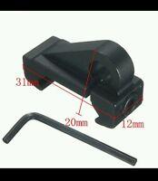 Black Aluminum Tactical Picatinny Weaver Rail Rifle Sling Adapter 22 15 15 .223