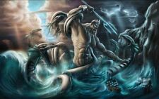 Home Art Wall Decor Poseidon Fantasy Oil Painting Picture Printed On Canvas IV