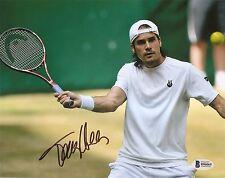 Tommy Haas Tennis Signed Auto 8x10 PHOTO Beckett BAS COA