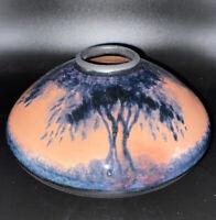 Nancy Bishop Signed Porcelain Pottery Vase Virginia Trees