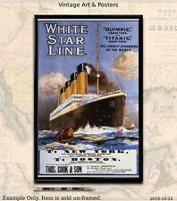Titanic White Star Line #2 - 11x17 inch Poster/Print/Sailing Notice