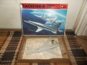 Vintage 1985 Minicraft Russian Tupolev TU-22M Backfire-B, Partially Assembled