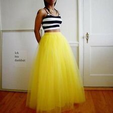 6 Layers Maxi Long Tulle Skirt Celebrity Skirts womens Adult Tutu Skirts