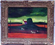 Revington Arthur (US, 1908-1986) Abstract Original Oil Painting, Black Americana