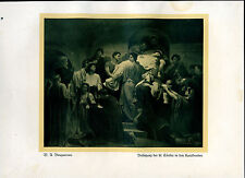 Beisetzung der hl. Cäcilia-- Bouguereau-Nach einem  Aquarell -- Coloriert-- 1927
