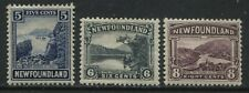 Newfoundland 1923 5 cents to 8 cents mint o.g. hinged