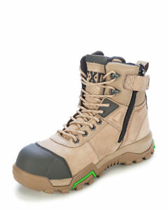 """FXD Boots 6"""" WB-1 Leather Composite Toe Side Zip Safety Stone Work Boot--13US"""