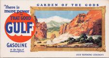 Gulf Gasoline Advertising Gulf Refinery Company Oil Co. Orange Disc Card C5