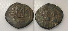 Coleccionable bizantina Moneda De Bronce De Justin Ii & Sophia (ad 565/578)