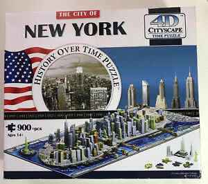 The City Of New York, History Over Time Puzzle 4D Cityscape 900+ Pcs New Sealed