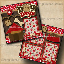 Dog Days 2 premade scrapbook pages paper piecing puppies pet By Digiscrap #A0146