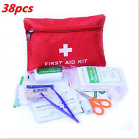 38In1 Pieces First Aid Kits Carry Bag Pouch Camping Car Emergency Holiday Travel