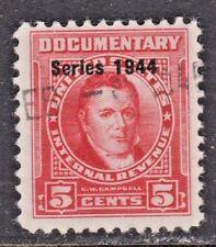 US Scott # R390 5c 1944 Documentary Revenue Stamp USED F/VF Light cancel.